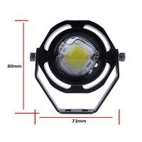 2PCS Led Car Fog Lamp Super Bright 1000LM Waterproof DRL Eagle Eye Light External Lights Daytime