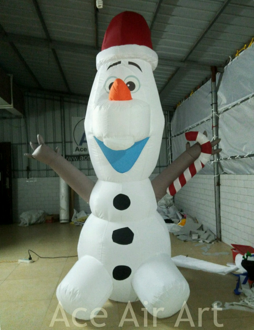 beautiful light up decoration Olaf inflatable Christmas snowman for ...