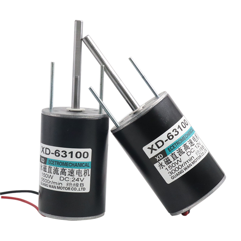 цена на 1pcs/lot DC 12V 3500rpm or 24V 5500 rpm high speed DC 30W Miniature adjustable speed motor Can be positive and negative motor