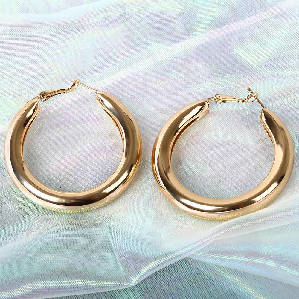 Trendy Korea Jewelry Earrings Lovers Circle Ear Ring Earrings For Women And Rings Earrings Female Hip Hop Hoop Earrings Bijoux