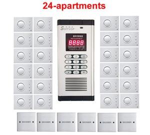 Image 1 - למעלה איכות אבטחת בניין שאינו חזותית אינטרקום מערכת עבור 24 דירות, יד משלוח אודיו דלת טלפון, סיסמא נעילה