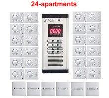 Interphone de bâtiment non visuel de qualité supérieure pour 24 appartements, interphone de sécurité, ouverture de mot de passe, ouverture de porte
