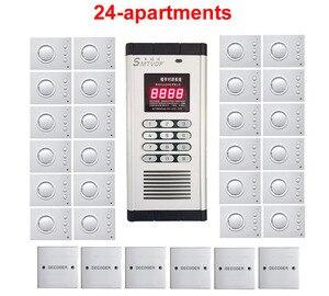 Image 1 - Sistema de intercomunicação não visual da segurança da qualidade superior para 24 apartamentos, telefone de porta áudio sem mão, desbloqueio de senha