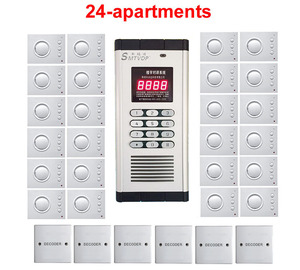 Image 1 - Top Quality Security non visual building intercom system for 24 apartments ,hand free audio door phone ,PASSWORD unlock