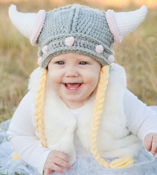 Toddler To Adult Crochet Viking Hat Crochet Kids Helmet Toddler