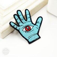 Рука(Размер: 5,8x5,8 см) гладить на патчи вышивка нашивка, значок, аппликация Одежда Швейные принадлежности Декоративные значки с героями мультфильмов