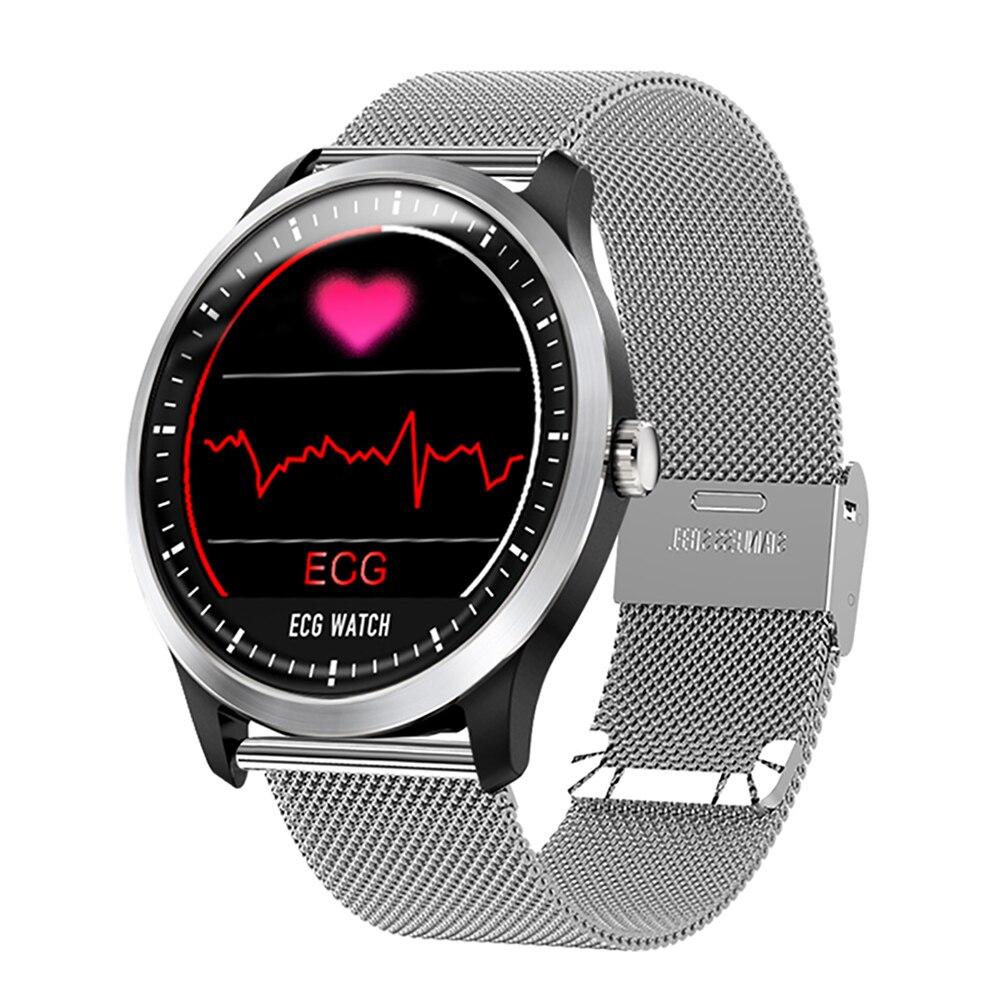 Men s Smart Watch ECG Sports Watch ECG PPG ECG HRV Report Heart Rate Blood Pressure