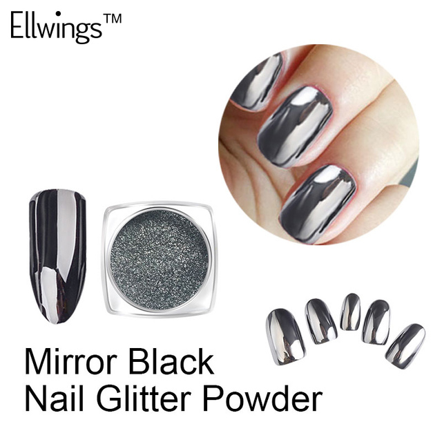 Aliexpress.com : Buy Ellwings Top Quality Black Mirror Effect Nail ...