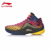 Li Ning 2017 Shoes Men's Basketball Shoes Wade Team 4 Damping Wear resisting Professional Game Shoes Sneakers Sports ABAM011