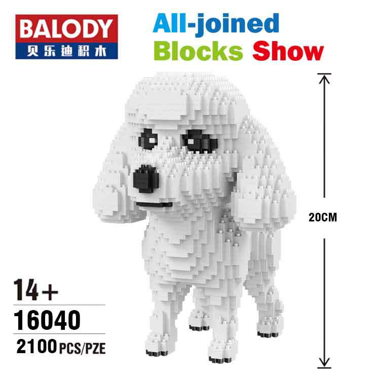Balody Pet Dog Model Poodle Mini Blocks DIY Assembly Animal Model dachshund Brick Toys for Children Gifts Educational Toy 16040 sleeping beauty like princess pet bed for miniature poodle mini schnauzer pekingese etc