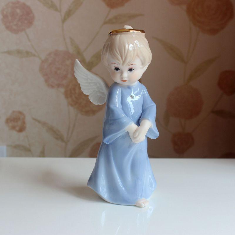 cute porcelain angel baby figurine ceramic tabletop angel figure