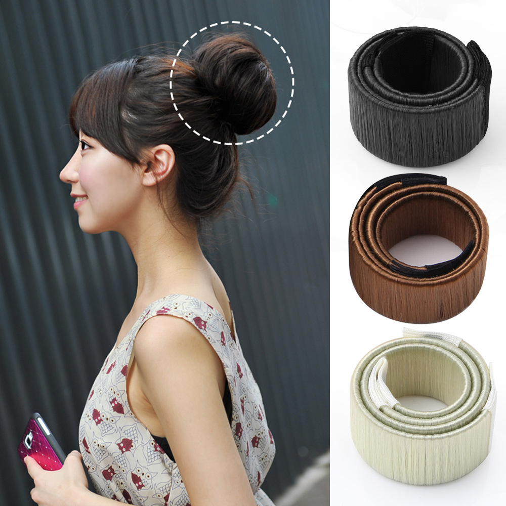 Shenzhen Freestyle Co., Ltd 3pcs/lot Fashion Easy Hair Bun Maker Synthetic Wigs With Headband Magic Easy Using DIY Bun Maker Tool For Hair Styling