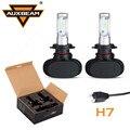 Auxbeam CREE Чипы H7 Светодиодные Фары Автомобиля 2 шт. Led Вождения Головы свет Лампы Один Луч Авто H7 Противотуманные фары 6500 К 12 В 24 В фан-менее