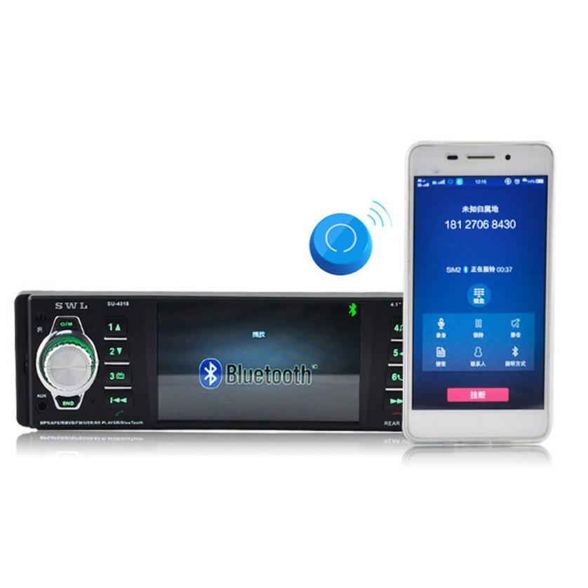 Car Stereo Radio 4.1 Inch HD Digital Vehicle MP5 Player Car DVD FM Radio USB SD AUX Interfaces jul11