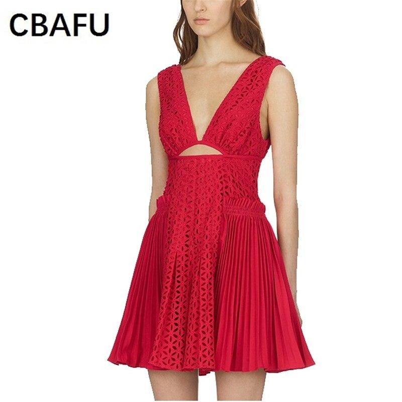 aush mini rote auto t sommerrmellose sexy dress d117 faltete spitze hlen Cbafu frauen portr damen club Nm8vnw0