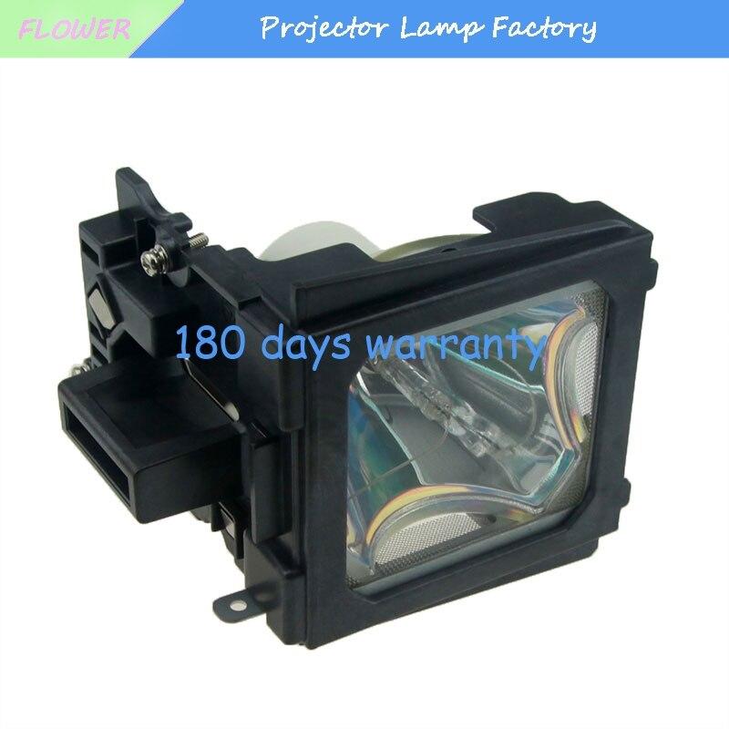 Livraison Gratuite AN-C55LP/BQC-XGC55X/Remplacement Compatible Lampe De Projecteur avec Boîtier pour SHARP XG-C55 XG-C58 XG-C58X XG-C60/C68