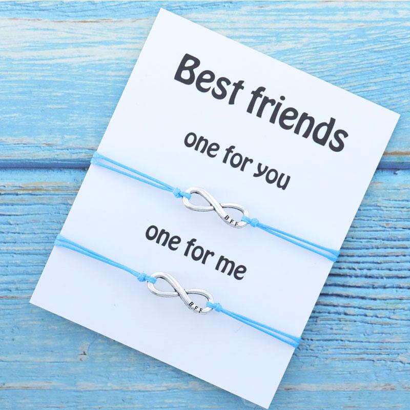 Браслет дружбы лучший друг с шармами бесконечности Bff браслеты дружбы для друга BFF подарок браслет бесконечности для женщин и мужчин ювелир...