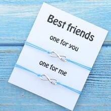 Pulseira combinando infinito bff, melhor amigo pulseiras de amizade para amigo bff presente infinito mulheres homens joias