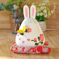 Lucky Cat Japan genuine crafts home decoration accessories decor wedding rabbit small butterfly ceramic ornaments birthday gift