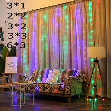 led strip  3x1/3x2/4x2/6x3m fairy lights bedroom garden party curtain decoration light