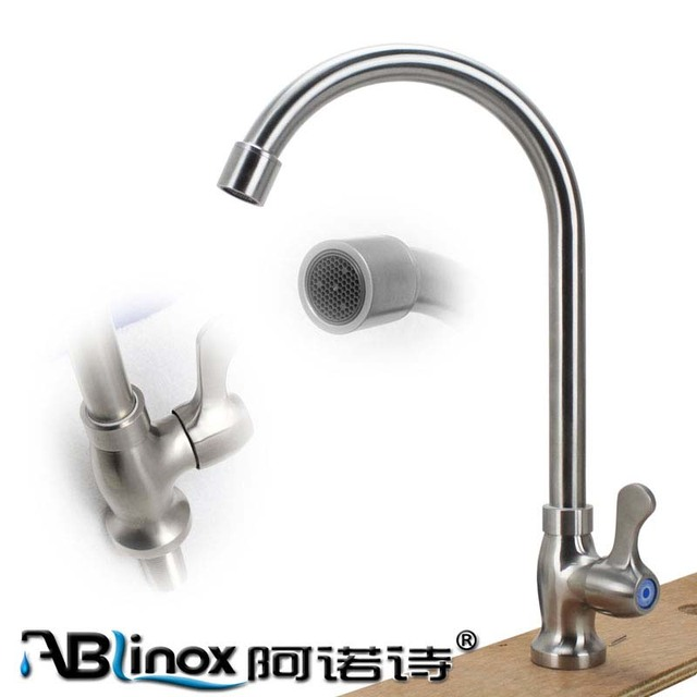 ABLinox Easy To Install Kitchen Faucet Stainless Steel Kitchen Sink Tap