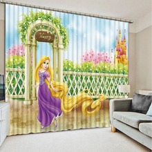 Children cartoon style Home Decoration Living Room Natural Art Fashion 3d curtains