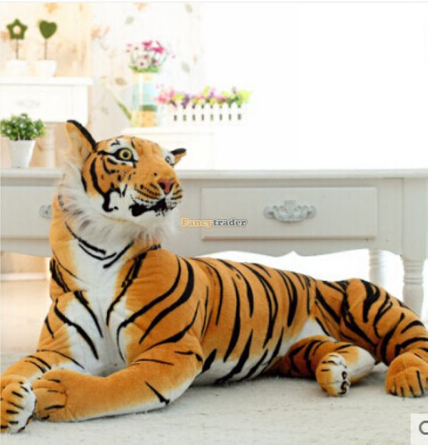 Fancytrader 61'' / 155cm Super Domineering Stuffed JUMBO Soft Large Plush Emulational Tiger Toy, Free Shipping FT50169 2pcs 12 30cm plush toy stuffed toy super quality soar goofy