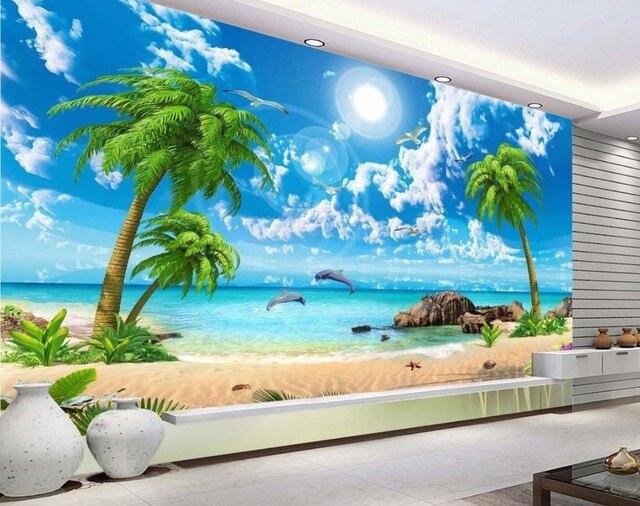 Custom 3d Photo Wallpaper Hd Maldives Sea Beach Natural: Wallpaper Scenery For Walls Custom 3d Background