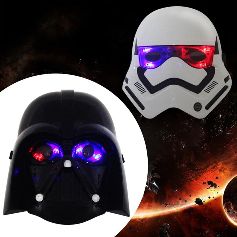 2 Colores Negro Blanco Máscara de Star Wars Casco Fresco Darth Vader - Para fiestas y celebraciones - foto 5