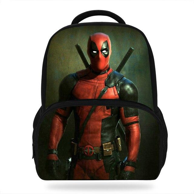 14Inch Hot Sale Super Hero Backpack For Teens Boys Deadpool Bag For Children  Girls School Bags For Kids Students 01738bb2ffd68