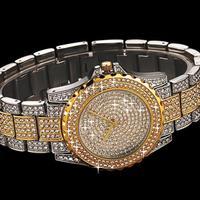 New Arrival Famous Brand Shinning Diamond Bling Silver Watch Women Luxury Austrian Crystals Watch Rhinestone Bangle Bracelet