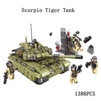 city Lepins World War Military Army Scorpio Tiger Tank Building Block Bricks Toys Model kits gift for children