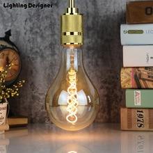 PS35/A110 big size Vintage led lamp giant Edison bulb soft LED filament decor bulb 4W 220V light bulb warmth glow