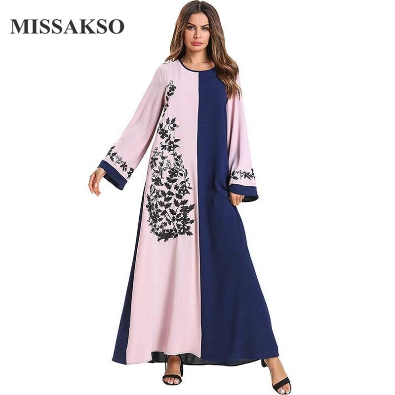 Missakso manches longues ligne nouvelle ample jolies robes longue hiver Maxi robe automne robes femmes vêtements belles dames