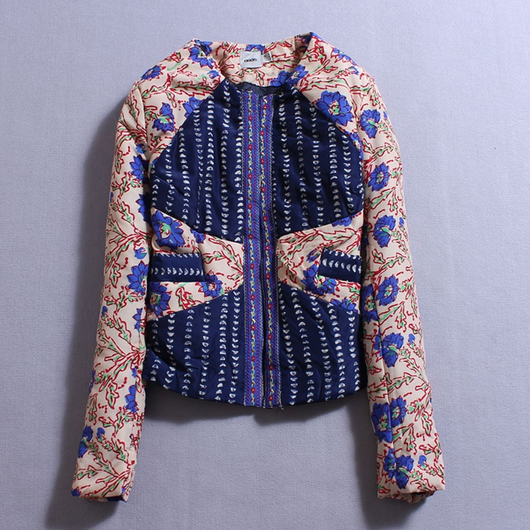 2014 fall winter clothing new Patchwork Ethnic Floral flower Printed quilting cotton short jacket long sleeved top frank buytendijk dealing with dilemmas where business analytics fall short