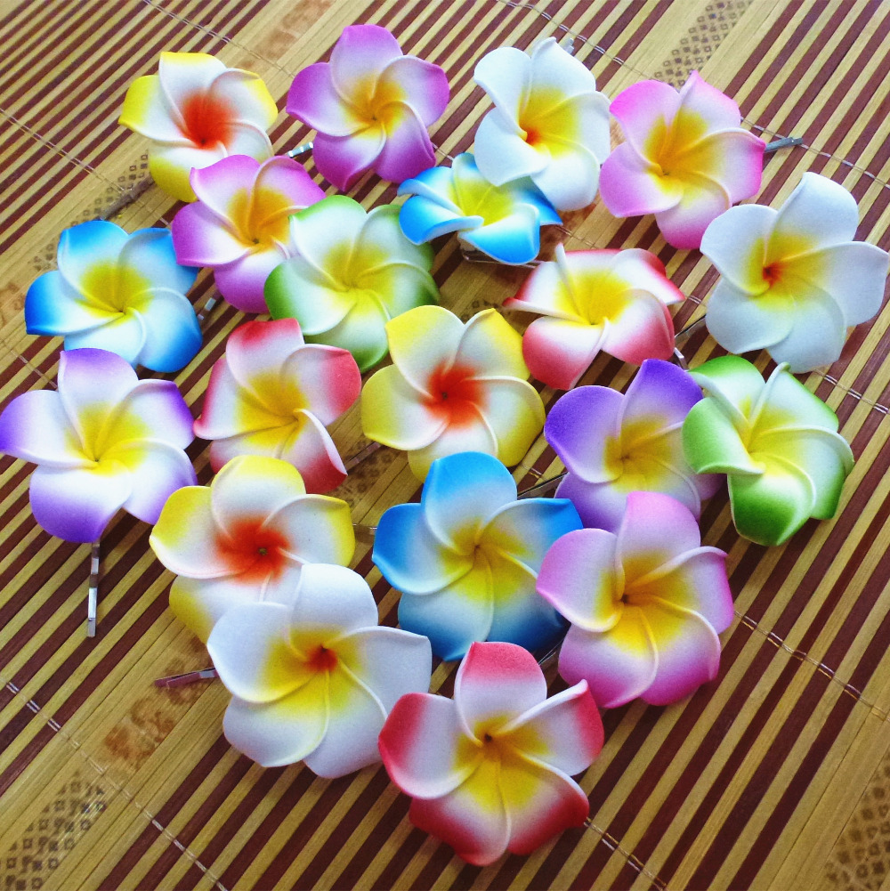 10 assorted color foam hawaiian plumeria flower frangipani flower 10 assorted color foam hawaiian plumeria flower frangipani flower bridal hair clip 45cm f 9 on aliexpress alibaba group izmirmasajfo Choice Image