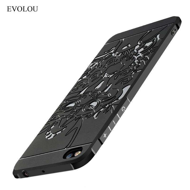 EVOLOU For Xiaomi Mi A1 Case 360 Protected Silicone Cover Case for Xiaomi MI 5X MI5X Pro A 1 3D Dragon Shockproof TPU cases MIA1