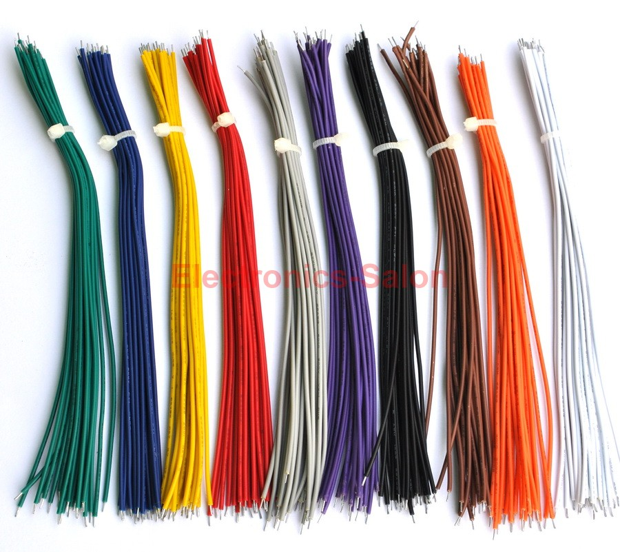 """Cable 300V 80°C . 100PCS Black 150mm//6/"""" UL-1007 26AWG Wire"""