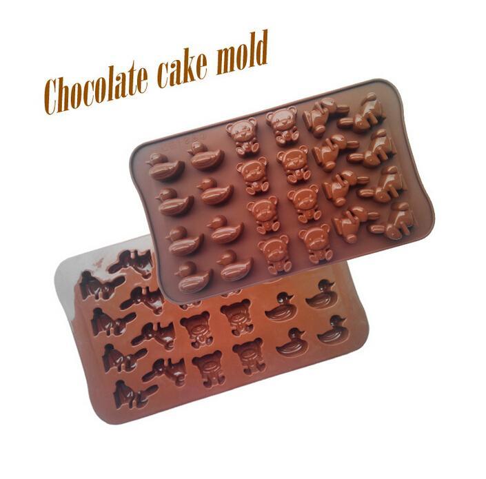 1PCS Bear Rabbit Duck Shape Silicone Mold, Jelly, Chocolate, Soap ,Cake Decorating DIY Kitchenware ,Bakeware L027