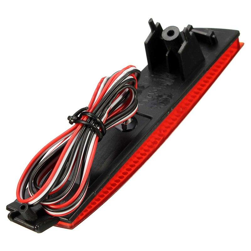 2Pcs Car Rear Bumper Reflector Red Lens LED Tail Brake Light For Nissan Juke Murano For Infiniti FX35 FX37
