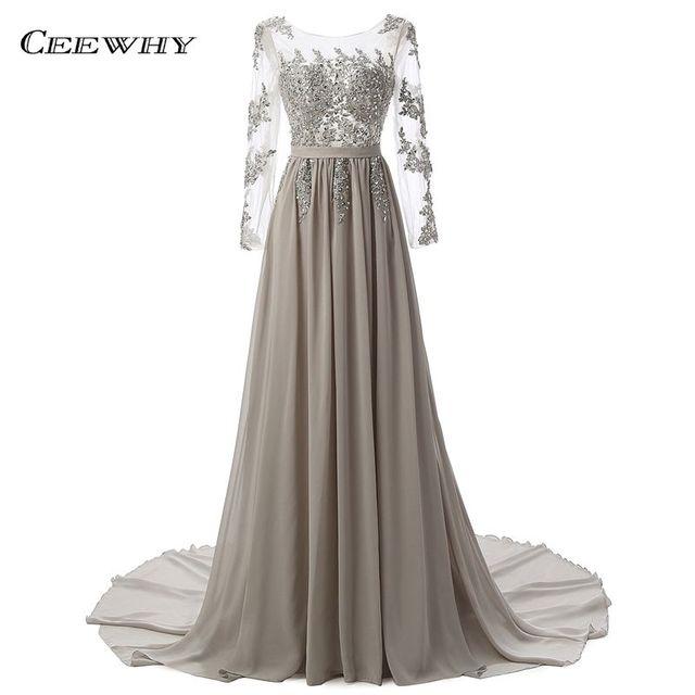 Длинный рукав пол Длина сексуальное вечернее платье с открытой спиной Длинные невесты банкет элегантный плиссированные суд поезд платье для выпускного вечера; Robe De Soiree