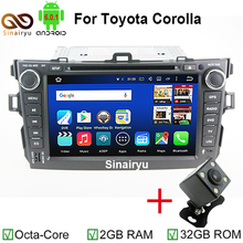 HD 1024X600 Octa Core 6.0.1 Android de DVD Del Coche Reproductor de Radio Sistema de navegación Estéreo Para Toyota Corolla 2007 2008 2009 2010 2011