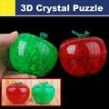 Nueva 3d lucky crystal apple speed puzzle cubo mágico juguetes educativos especiales profesional clásico niños bloques del rompecabezas de regalo