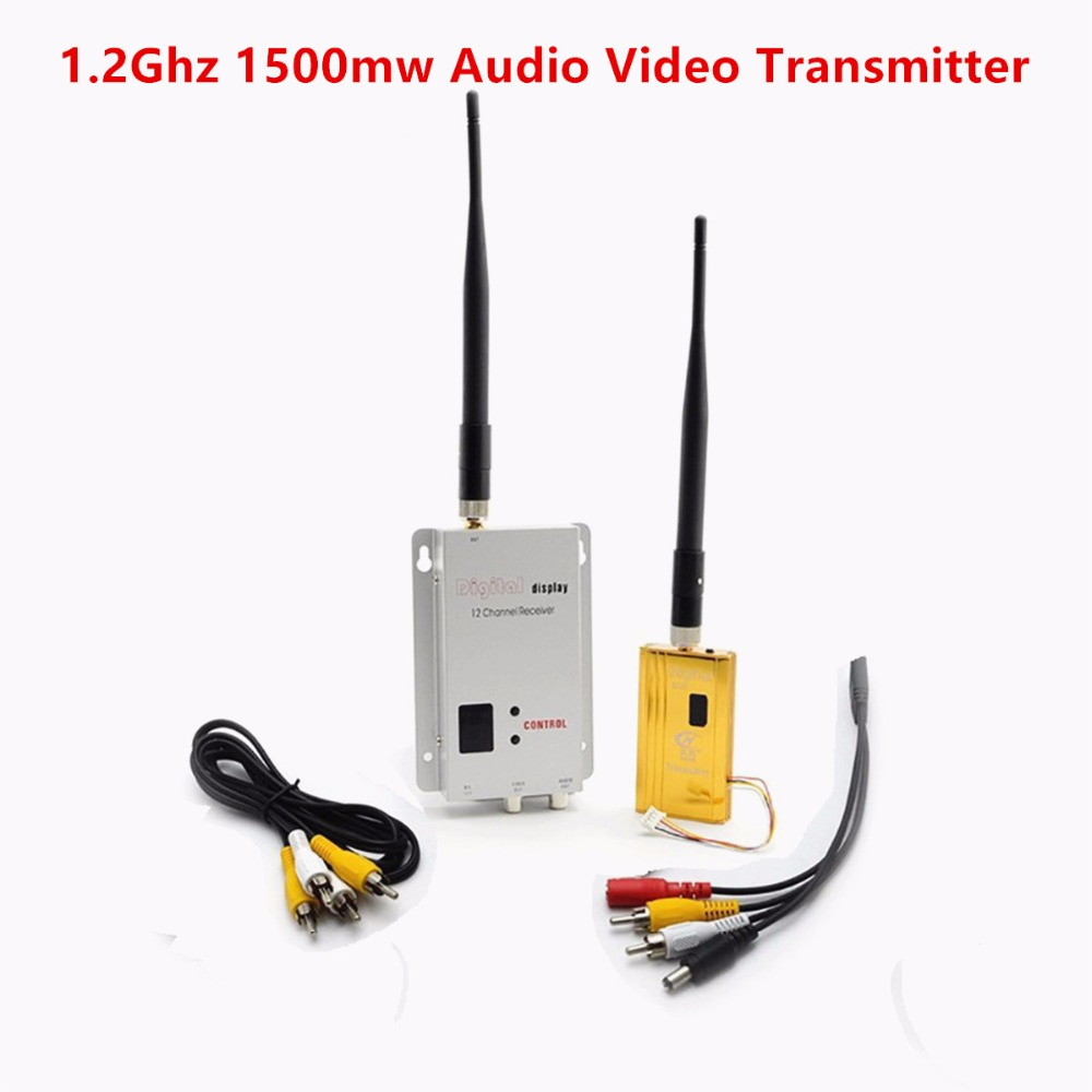 FPV 1.2Ghz 1.2G 8CH 1500mw Wireless AV Sender TV Audio Video Transmitter Receiver For QAV250 250 FPV Quadcopter