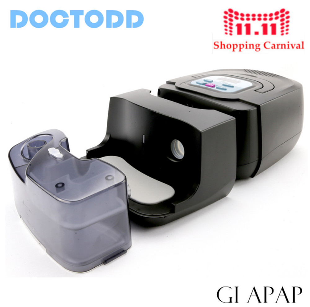 Doctodd GI Auto CPAP APAP Machine For Sleep Snoring And Apnea Therapy CE FDA APAP With Humidifier Nasal Mask Tubing and Bag цены онлайн
