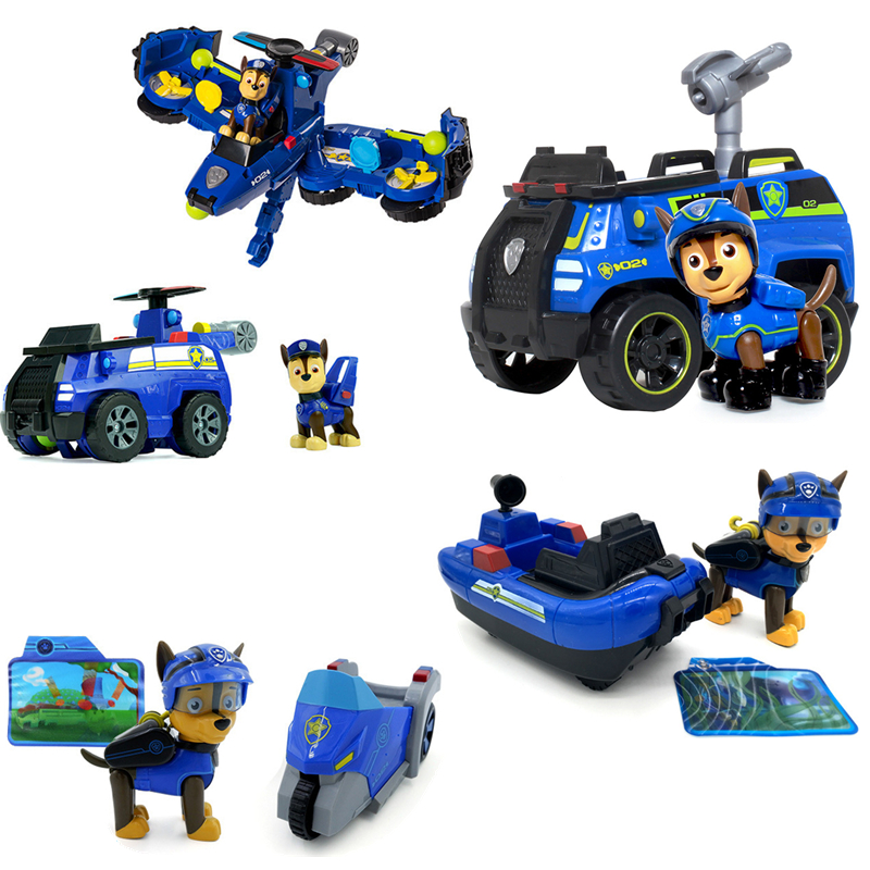 Paw Patrol Toy Car Chase Set Aircraft Submarine Can Deformation Toys Music PVC Action Anime Figure Model Toy Of Children GiftPaw Patrol Toy Car Chase Set Aircraft Submarine Can Deformation Toys Music PVC Action Anime Figure Model Toy Of Children Gift