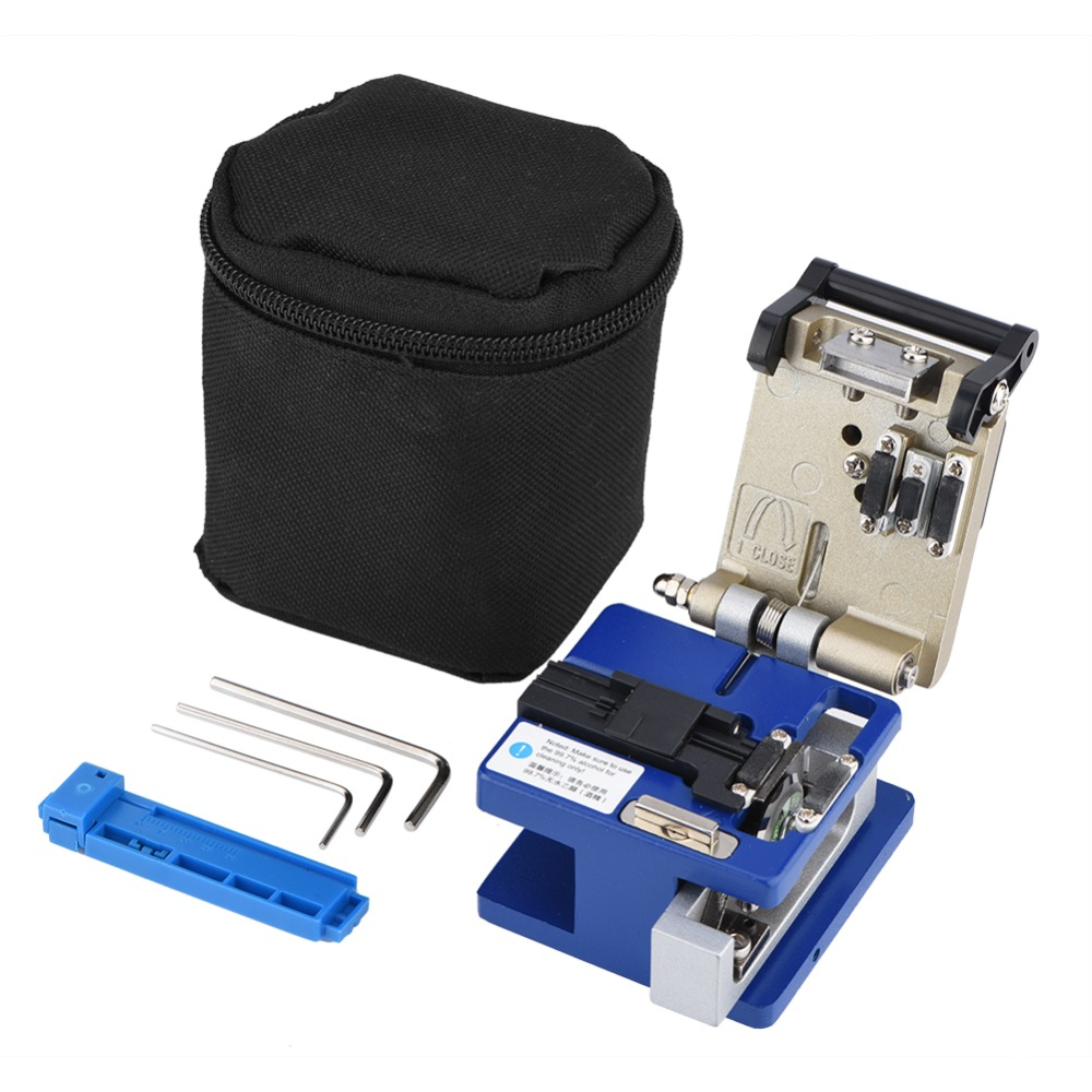 High Precision Optic Fiber Wire Cleaver Optical Fiber Cable Stripping Cutter Tool with Bag