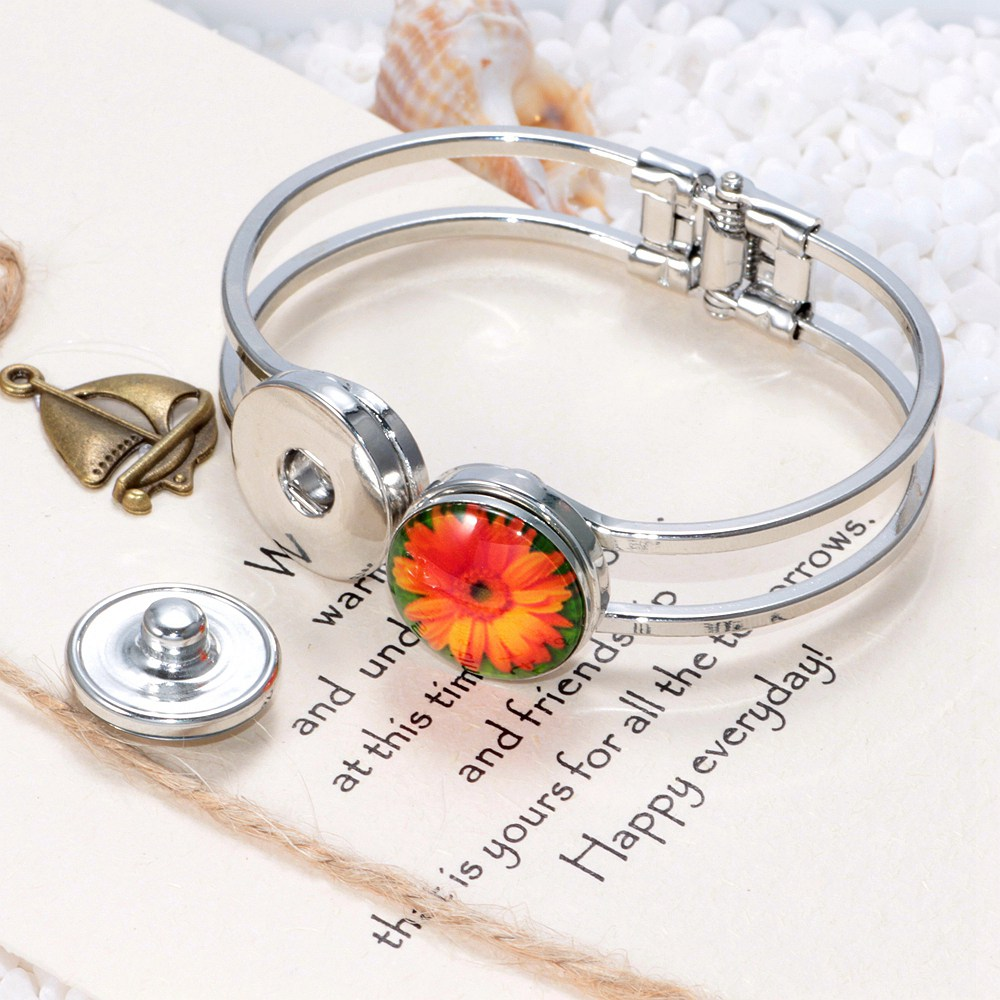 ROYALBEIER 12pcs/lot Muslim Islam Allah Word Multi Styles 18mm Glass Snap Button Fit Charm Necklace Bracelet Accessories KZ1088