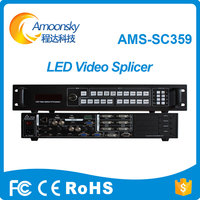 Giant Led Screen Usage AMS SC359 Support Open 3 Window Led Video Processor Hdmi Video Wall