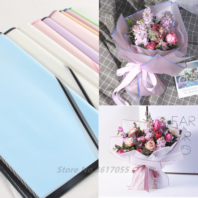 Us 9 92 35 Off 20pcs Waterproof Flowers Wrapping Kraft Paper Gift Wrapping Paper Matte Flowers Bouquet Packaging Supplies Craft Paper Materials In
